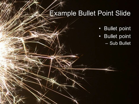 Sparkler PowerPoint Template inside page