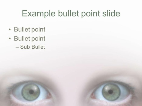 Eye PowerPoint Template inside page