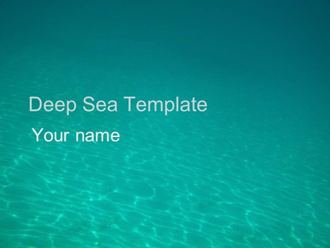 Deep sea template powerpoint1g toneelgroepblik Image collections