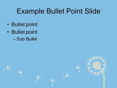 Dandelion Template inside page
