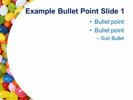 Jelly Beans PowerPoint Template inside page
