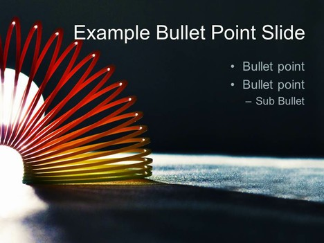 Slinky PowerPoint Template inside page