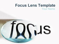Focus Lens PowerPoint Template thumbnail