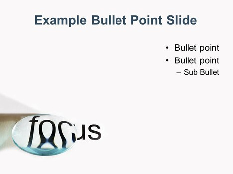 Focus Lens PowerPoint Template inside page