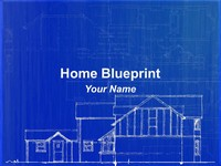 Home Blueprint PowerPoint Template thumbnail