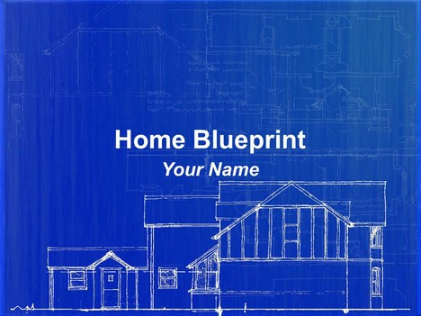 Home blueprint powerpoint template malvernweather Images
