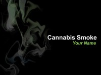 Cannabis Smoke PowerPoint Template