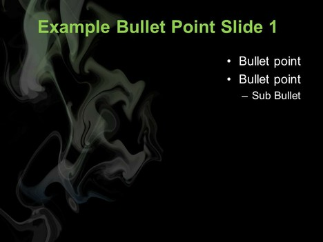 Cannabis Smoke PowerPoint Template inside page