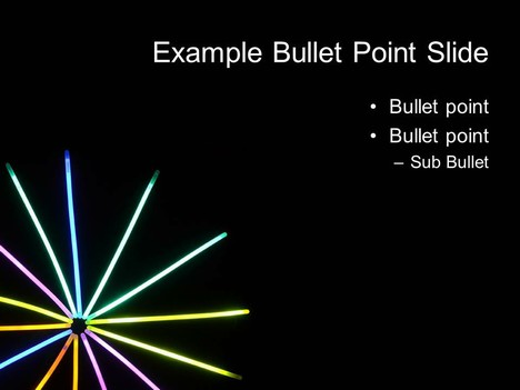 Glow Stick PowerPoint Template inside page