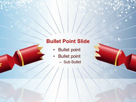 Christmas Cracker (Cool) PowerPoint Template inside page