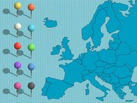 UK and Europe PowerPoint Maps thumbnail