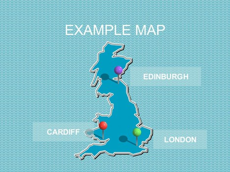 UK and Europe PowerPoint Maps inside page