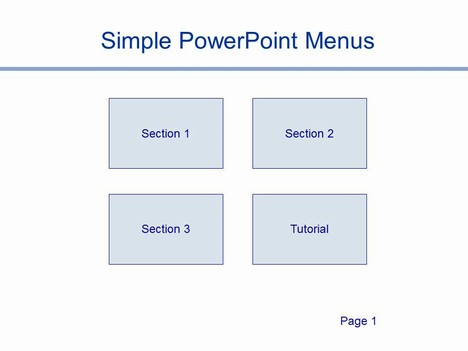 Simple powerpoint menus template for Easy menu templates free