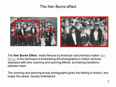 The Ken Burns Effect Template inside page