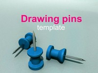 Drawing Pins PowerPoint Template