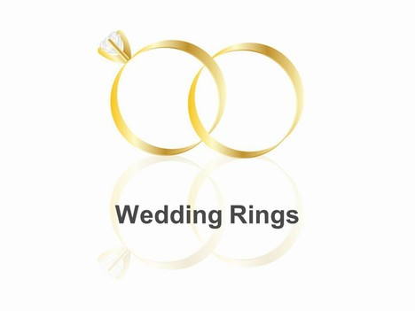 wedding rings powerpoint template - Interlocking Wedding Rings