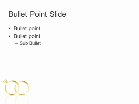 Wedding Rings PowerPoint Template inside page