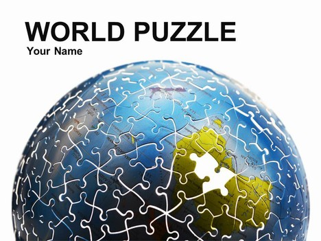 World puzzle powerpoint template toneelgroepblik Gallery