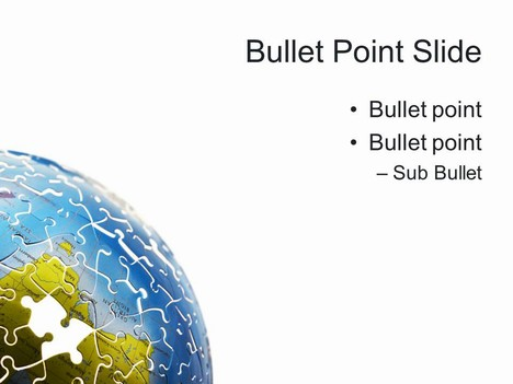 World Puzzle PowerPoint Template inside page