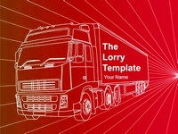 Transport Lorry PowerPoint Template thumbnail