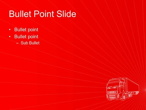 Transport Lorry PowerPoint Template inside page
