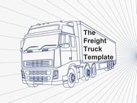 Freight Truck PowerPoint Template