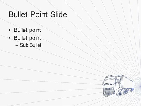 Freight Truck PowerPoint Template inside page
