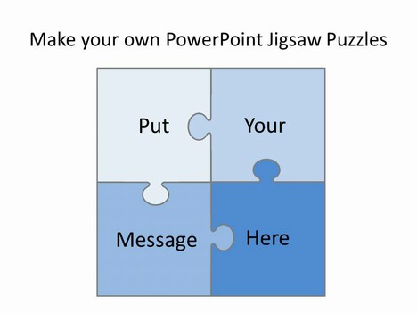 free editable jigsaw pieces powerpoint template, Powerpoint