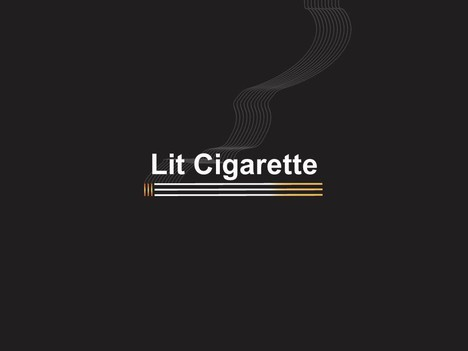 Lit Cigarette PowerPoint Template