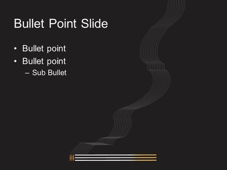 Lit Cigarette PowerPoint Template inside page