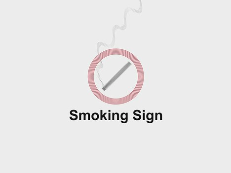 Smoking Sign PowerPoint Template