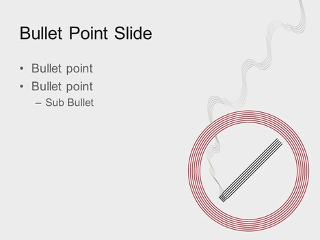 Smoking Sign PowerPoint Template inside page