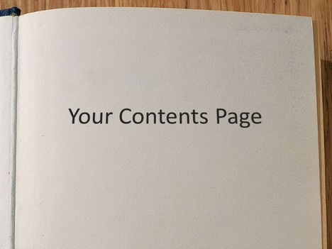 Editable Book Template inside page