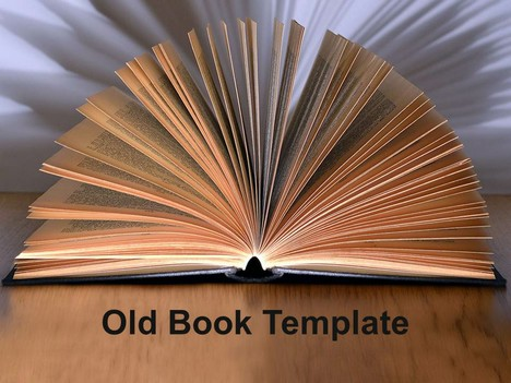 Old book powerpoint template toneelgroepblik Image collections