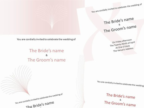 Pink wedding invitations toneelgroepblik