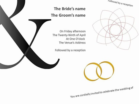 ... wedding invitation templates shows bold designs using wedding rings as