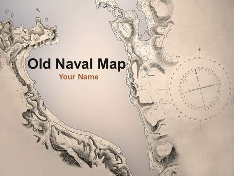 Old naval map powerpoint template toneelgroepblik Image collections
