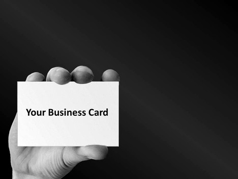 Business Card Template inside page