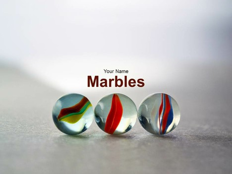 Marbles Powerpoint Template