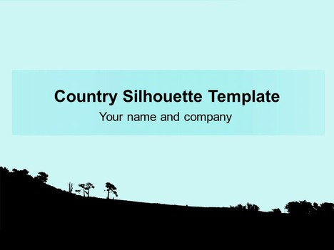 Landscape Silhouette Background Template