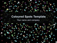 Coloured Spots Template