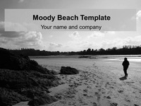 Moody Beach PowerPoint Template thumbnail