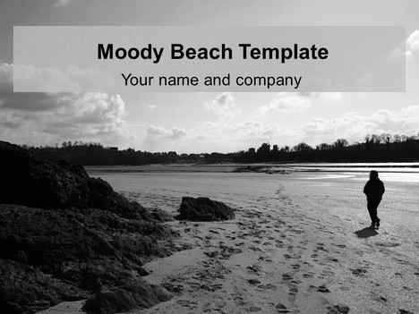 Moody Beach PowerPoint Template