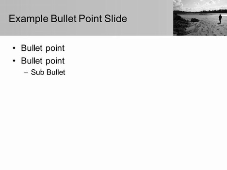 Moody Beach PowerPoint Template inside page