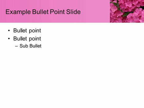 Pink Flower Template inside page
