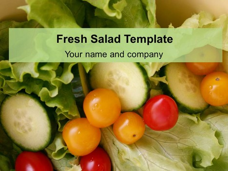 Fresh salad template powerpoint1g toneelgroepblik Choice Image