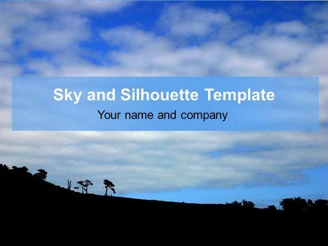 Sky and Silhouette Template