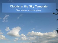 Clouds in the Sky Template