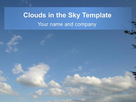 Clouds in the sky template powerpoint1g toneelgroepblik Gallery