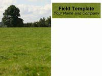 PowerPoint Field Background Template